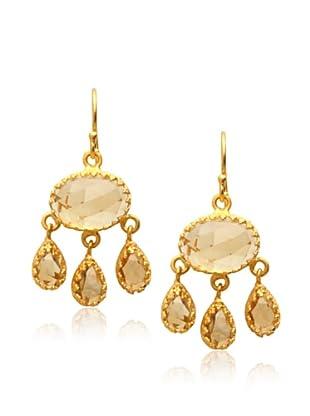 Kevia Rococo Dangle Earrings, Citrine