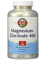 KAL - Magnesium Glycinate, 400 mg, 180 tablets
