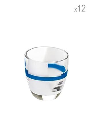 Guzzini Set 12 Bicchierini Liquore Table Art 2 Blu