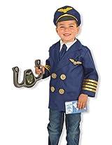 Melissa & Doug Children's Pilot Role Play Set Costume for Kids, Multi Color