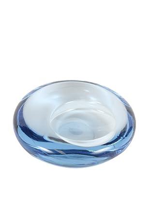Holmegaard Medium Blue Glass Tilt Design