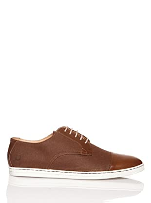 Fred Perry Deportiva Higgs Waxed Canvas/Leather (Havana)