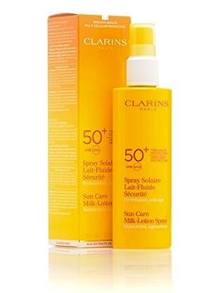 Clarins Sun Care Milk Lotion Spray SPF 50. 150 ml. Preis/100ml: 13.97 EUR.
