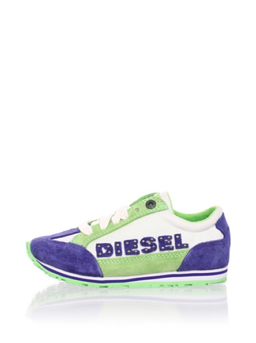 Diesel Kid's Vintage Ice Cool Lace Up Sneaker (Toddler) (Mezzanine Blue/Green)