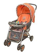Sunbaby Maxima Stripe Stroller (Orange)