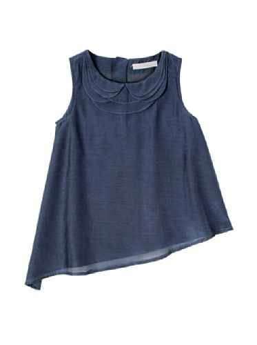 Pale Cloud Girl's Alice Top (Navy blue)