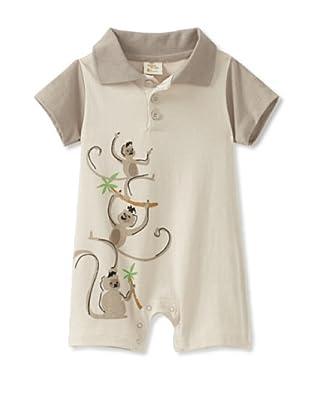 Da Lil Guys Baby Short Sleeve Polo Romper (Monkey)