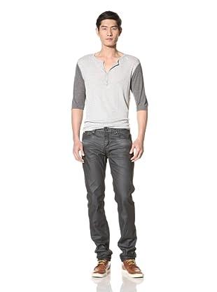 Zanerobe Men's Straight Mate Jeans (Blue/Black/Wax)