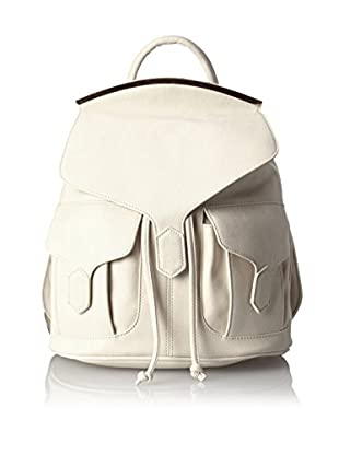 Nila Anthony Women's Backpack with Metal Bar, White
