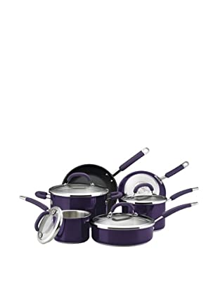 Rachael Ray Colored Stainless Steel Cookware 10-Piece Cookware Set (Purple)
