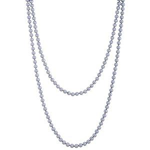 The Crazy Neck String Of Grey Beads Multi-Layered Neckpiece