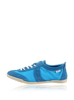 Buffalo London Zapatillas Textil Suede (Azul)