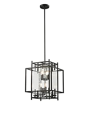 Artistic Lighting Intersections Collection 4+4-Light Pendant, Oil Rubbed Bronze