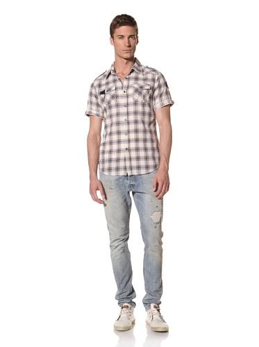 Artisan De Luxe Men's The Nelson Short Sleeve Shirt (Ash Blue)