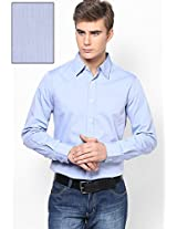 Blue Solid Slim Fit Casual Shirt