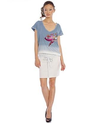 Custo Vestido África kite (Azul)