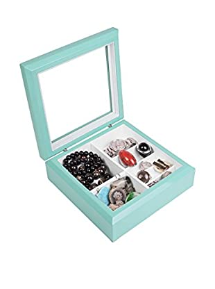 OYOBox Luxury European Inspired Jewelry Organizer, Aqua