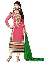 atisundar radiant Pink Straight Cut - 6738_40_9013