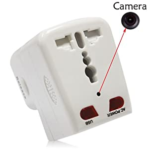 UniverseIndia Gadget Advice Spy Hidden Motion Activated Socket Cum Adaptor DVR Video Recorder