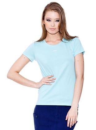 Esprit Camiseta Crew (Celeste)