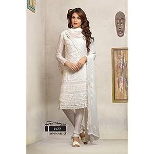 White Designer Anarkali Suit