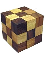 Crafts'man Snake Cube Jigsaw Wooden Puzzle, Brain Teaser, Gift Boxed ...
