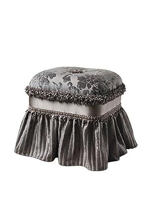 Jennifer Taylor Candace Grey Floral Ottoman, Multi