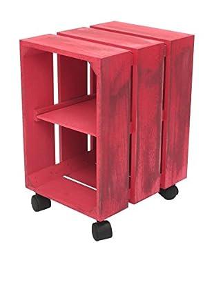 LO+DEMODA Mesa Auxiliar Box V Rosa