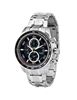 Citizen Eco-Drive CA0346-59L Blue Round Dial Chronograph Watch For Men