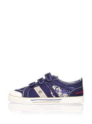 Pablosky Kid's Triple-Strap Sneaker (Navy)