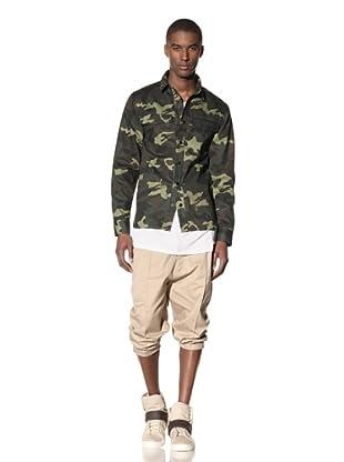 B: Scott Men's Camo Workman Shirt (Camo Green)