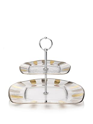 La Villa Collections Glory Two-Tier Plate (Clear Base)