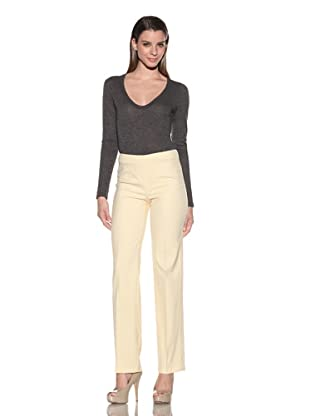 Loro Piana Women's Beguin Cadeau Side-Zip Pants (Primerose)