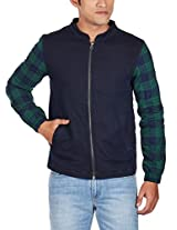 United Colors of Benetton Men's Cotton Jacket (8903975039124_15A2FS1C7054I90148_medium_Navy)