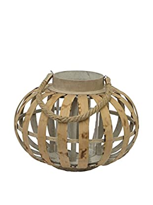 Three Hands Curved Bamboo Lantern, Brown