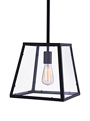 Zuo Taupo Ceiling Lamp, Distressed Black