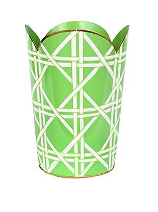 Jayes Cane Tulip Wastebasket, Green