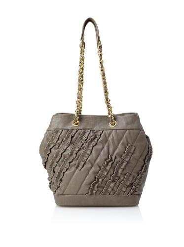 Danielle Nicole Women's Brooke Ruffle Bucket Bag (Grey)
