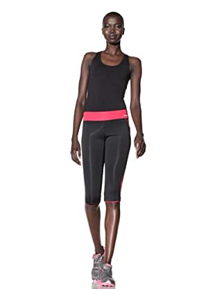 New Balance Women's Asymmetric Capri (Black/Virtual Pink)
