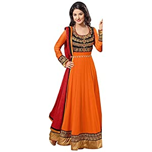 SGC- Orange Georgette Kalidar Anarkali Suit -H-42005