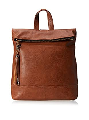 POVERTY FLATS by rian Women's Foldover Backpack, Brown