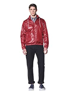Perry Ellis Men's Solid Windbreaker (Biking Red)
