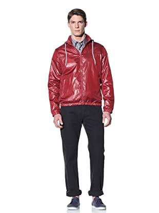 Perry Ellis Men's Solid Windbreaker (Biking Red)
