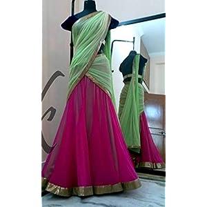 Green & Pink Designer Lehenga