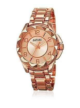 August Steiner Uhr mit japanischem Quarzuhrwerk  rosé 40 mm