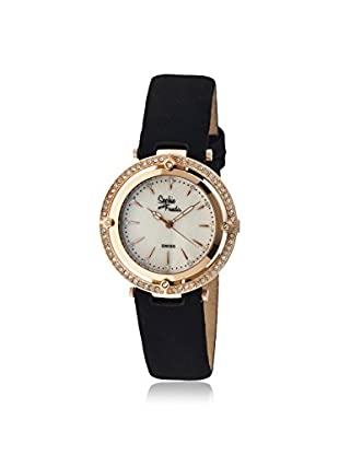 Sophie and Freda Women's SF1405 Tuscany Black/White/Rose Leather Watch