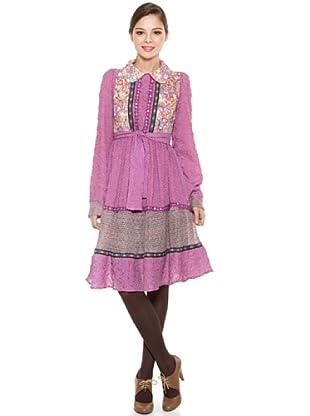 Poupé Chic Vestido Floral Multicolor (Magenta)