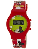 Disney Digital Multi-Color Dial Children's Watch - TP-1273 (Red)