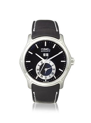 Ebel Men's 1215808 Classic Black Calfskin Watch