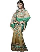 Sapphire Fashions Women's Green Net Sari